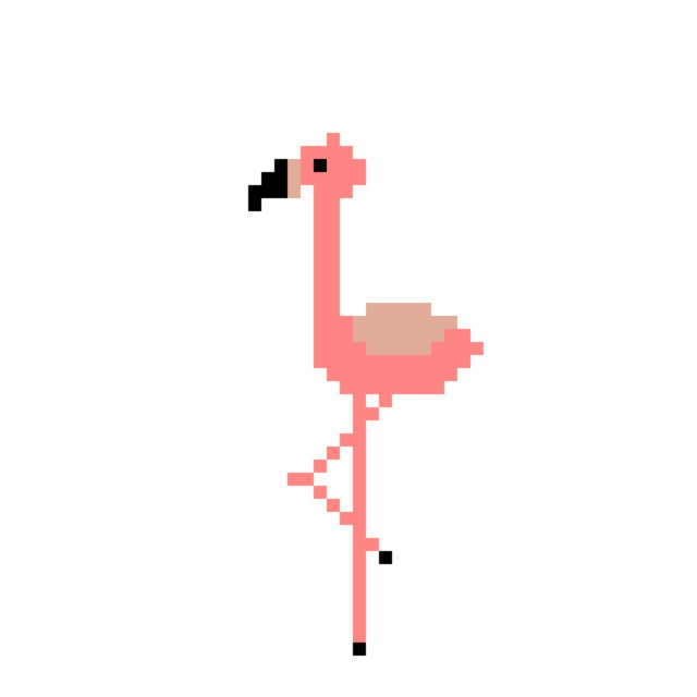 Pixelart Flamingo