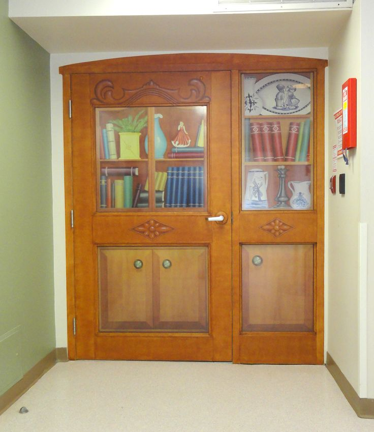 Main Entrance/Exit door to an Adult Day Centre - attached to a Retirement/Long Term Care facility. Creative Art Co (formerly BKRC Art Effects) & 96 best Exit Diversion/Door Disguises for Alzheimer residents in ...