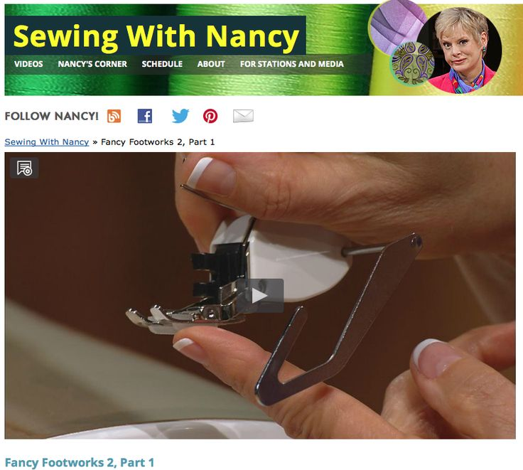 Did you every wonder what all those sewing presser feet can do? Nancy Zieman shows how on Sewing With Nancy,