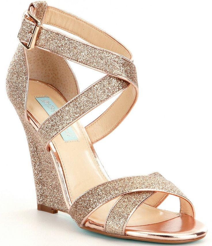 Champagne Glitter:Blue by Betsey Johnson Cherl Dress Sandals
