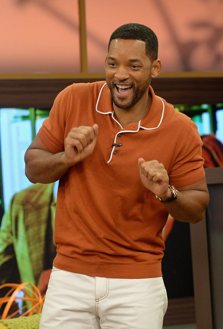 Pin for Later: Can't-Miss Celebrity Pics!  Will Smith got a little jiggy with it on the Miami set of Despierta America on Wednesday.