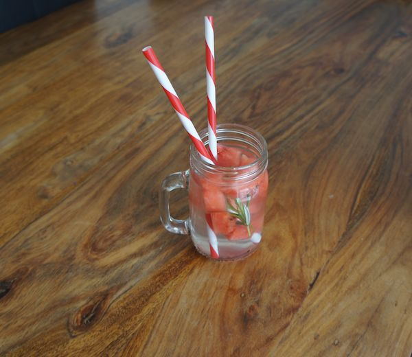 Rosemary and Watermelon Infused Water. Great post workout drink!