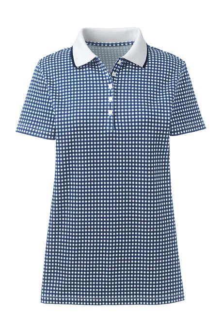 0aca0f5daccf94 Blue   white gingham Supima cotton polo shirt. Polos are a preppy classic