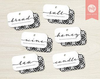 PRINTED ITEM: Gift Tags for Housewarming Basket - Set of 6