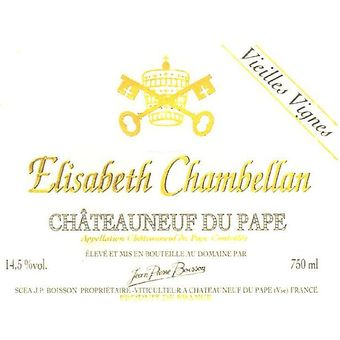 """Robert Parker - Robert Parker's Wine Advocate: """"The 2010 Chateauneuf du Pape Elisabeth Chambellan Vieilles Vignes is broader and more expansive with an almost addictive personality due to its charming, ripe kirsch and black currant fruit intertwined with notions of spice box, roasted herbs and forest floor. It is a full-bodied, supple, velvety-textured Chateauneuf du Pape that, like its sibling, begs to be consumed in its first 6-8 years of life."""""""