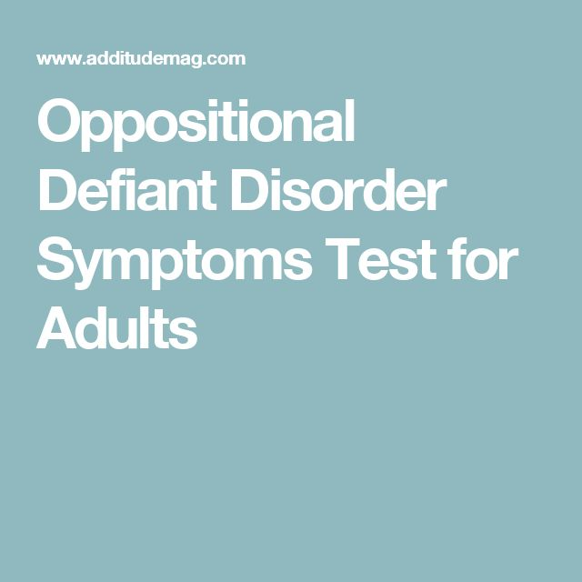Oppositional Defiant Disorder Symptoms Test for Adults