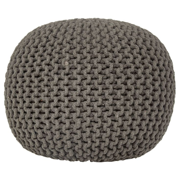 Knitted pouffe for corner chair - Asda