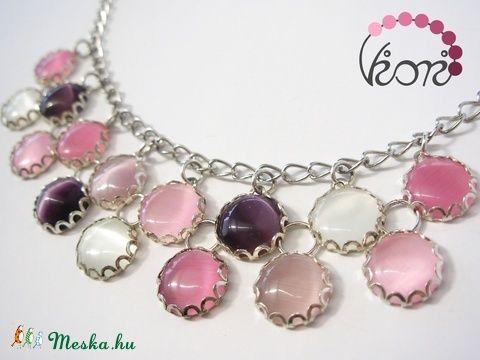 Róza duplasoros üveg nyaklánc (viori) - Meska.hu