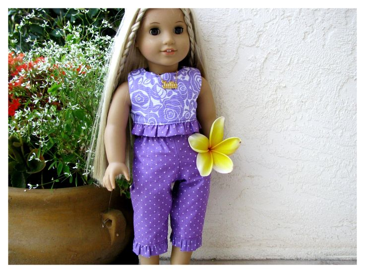 Summer Set for Julie, 18 Inch American Girl Doll, Historical 70's Doll Clothes by BonJeanCreations on Etsy