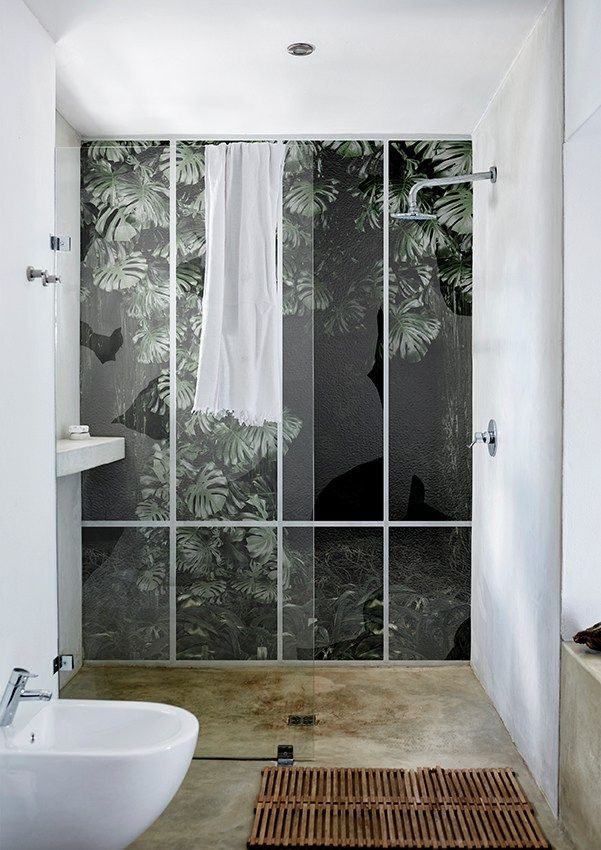 Bathroom wallpaper CONSERVATORY by Wall&decò | @juliaalena