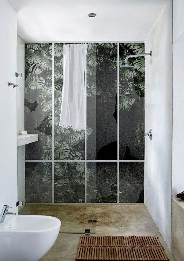 Bathroom wallpaper CONSERVATORY by Wall&decò