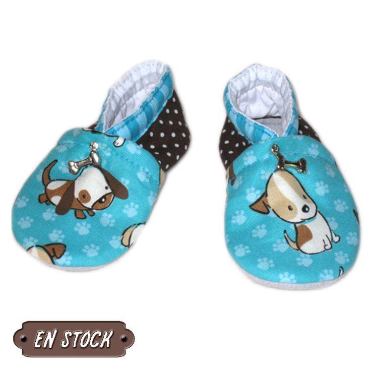 Chaussons bébé 17/18, semelles en cuir, modèle Sony, en stock : Mode garçons par dont-forget-melanie
