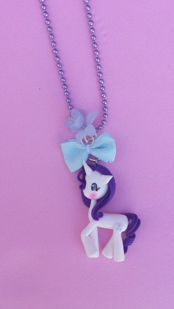 Rarity polymer clay necklace fimo by Artmary2 on Etsy, €12.00