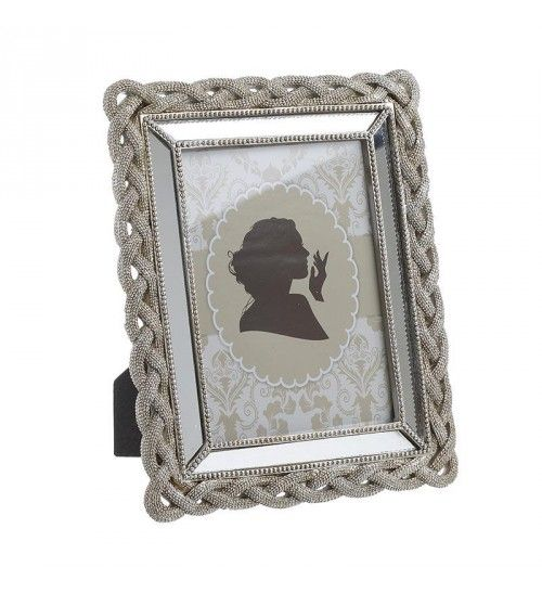 POLYRESIN FRAME IN SILVER W_MIRROR 13Χ18