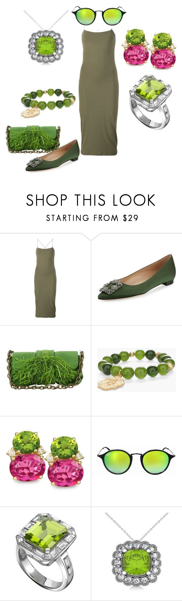 """Untitled #114"" by rosshandmadecrafts ❤ liked on Polyvore featuring T By Alexander Wang, Manolo Blahnik, Lanvin, Chico's, Ray-Ban and Allurez"