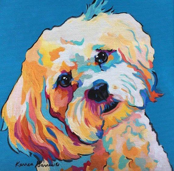 Maltese Dog Print Maltese Whimsical Art Maltese Custom Dog Etsy Pop Art Pet Portraits Dog Pop Art Pop Art Animals