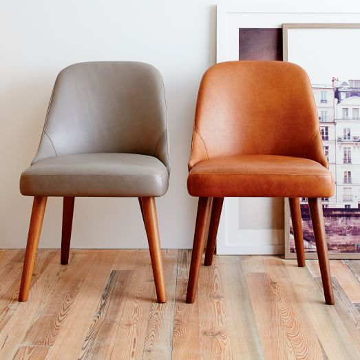 Mid-Century Leather Dining Chair | west elm                                                                                                                                                                                 More