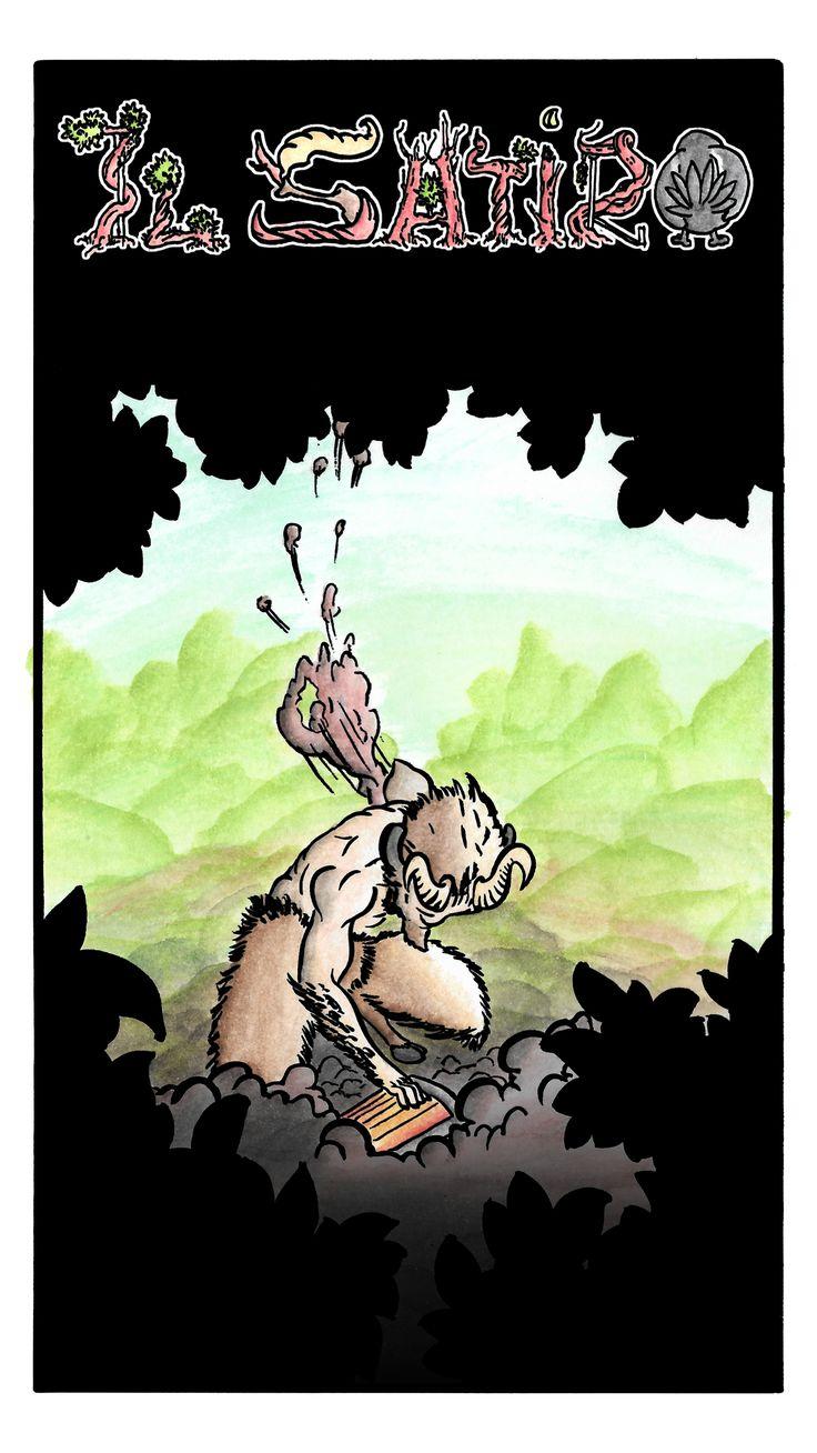 Giulio bottega, fumetto Il Satiro pagina 1