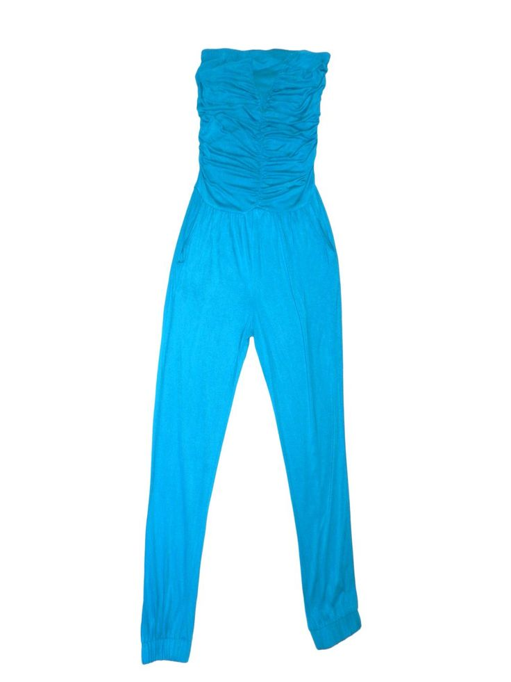 Combinaison bustier turquoise YESSICA C