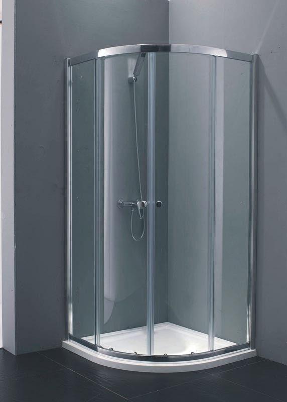 Indi 900 x 900 6mm Quadrant Shower Enclosure excl Tray
