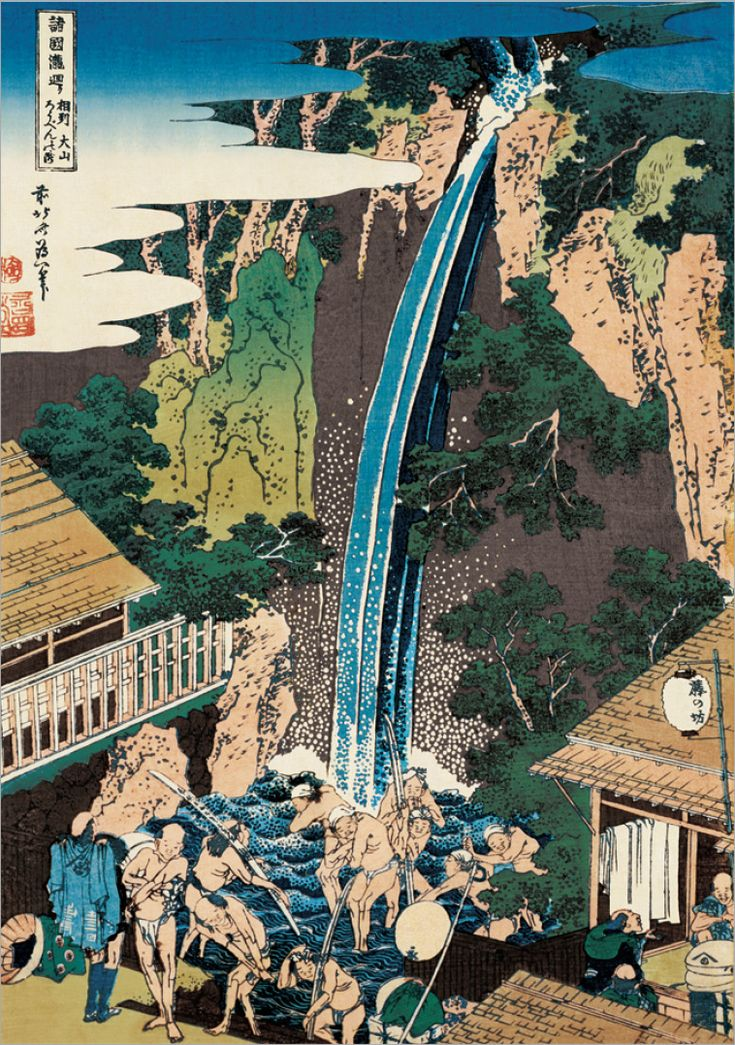 葛飾北斎の浮世絵「諸国瀧廻り」で見る日本の名瀑8選 - Find Travel