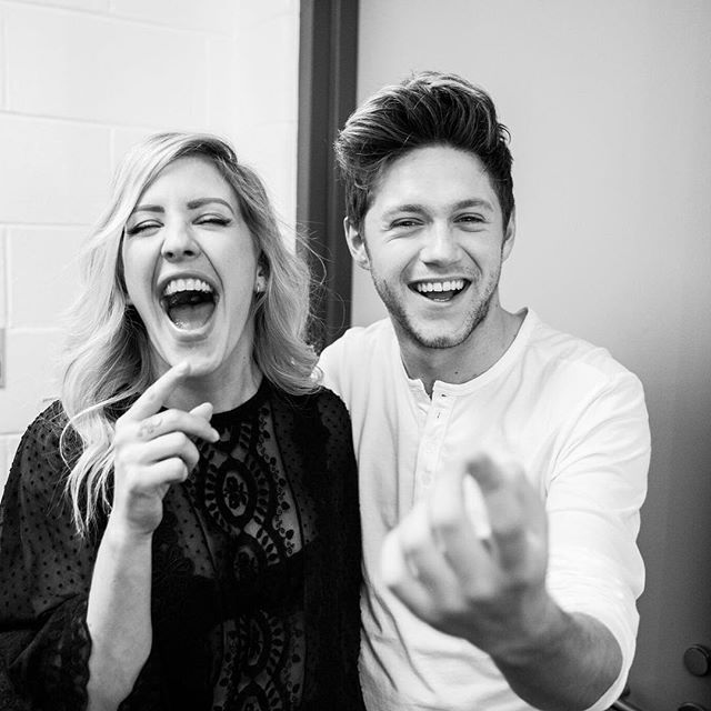 Oh it's a laugh a minute with me and Goulding . @elliegoulding . Jingle Ball Boston . @conormcdphoto