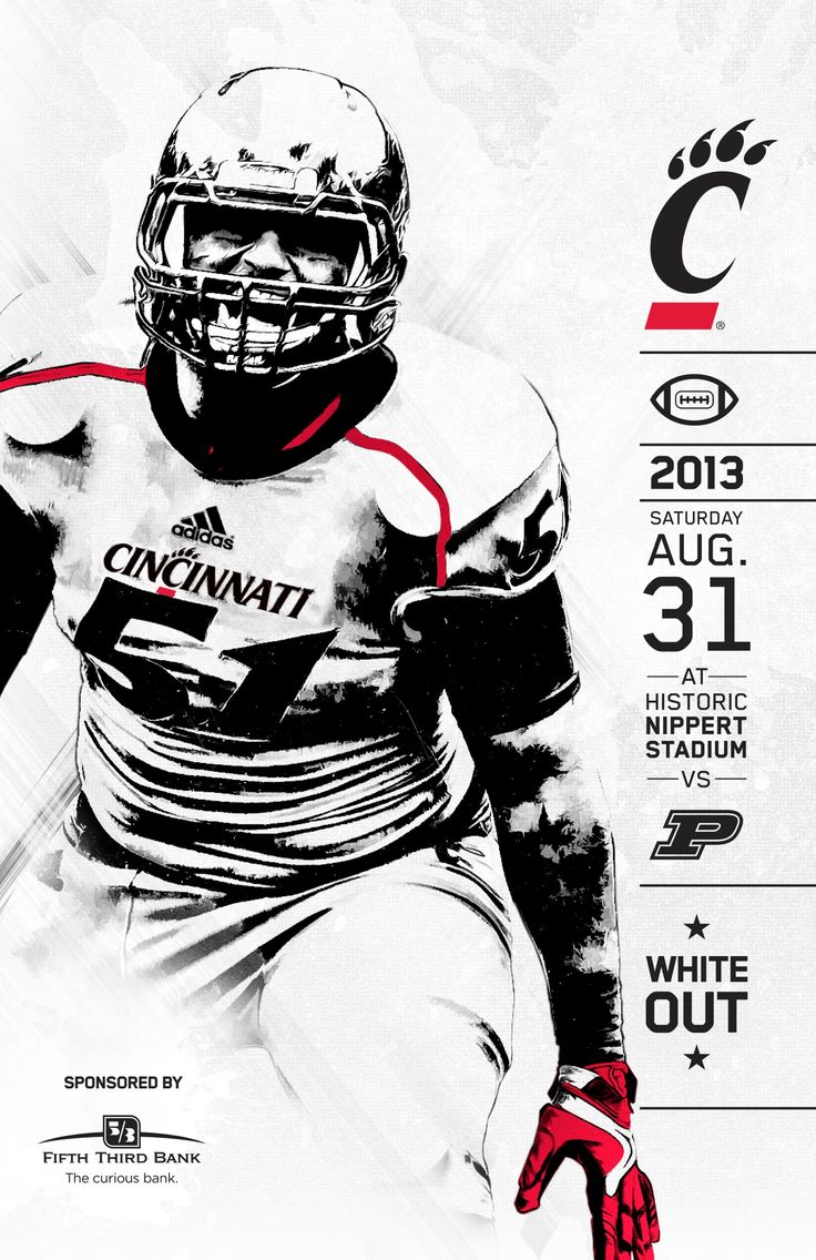 Bearcats Football 2013 Game Program against Purdue with