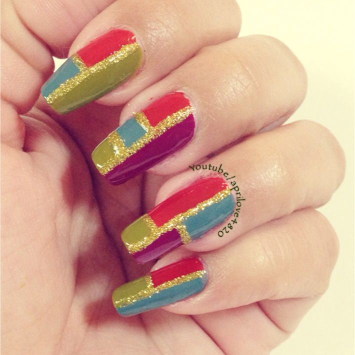Color Block Nails for Fall