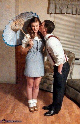 darla y alfalfa disfraces de halloween en pareja