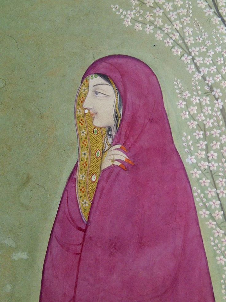 The Lady and the shawl. First generation after Nainsukh. Jasrota/Guler c1780.