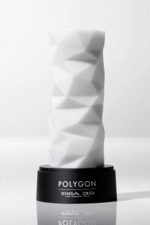 Masturbateur Tenga Homme réutilisable 3 D Polygon. Une structure polygonale pour des sensations extraordinaires.