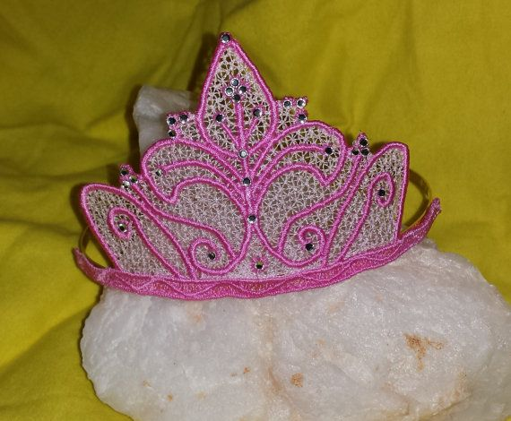 Tiara Hairband 5x7 And 4x4 Crown Freestanding Lace Machine