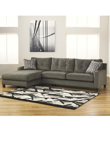 large grey sectional sofa with chaise