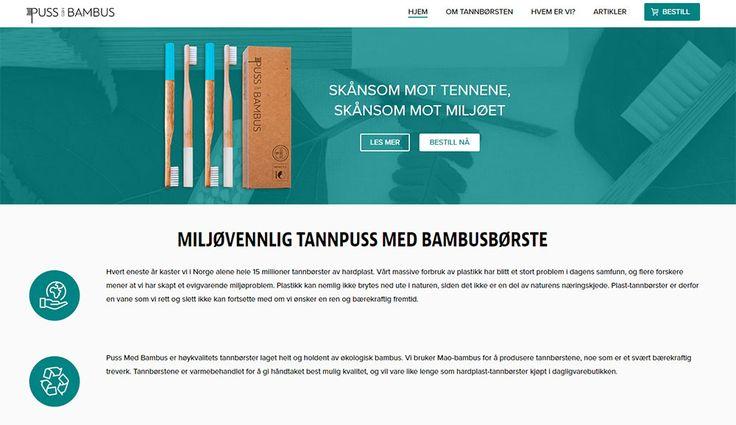 Nettbutikk for puss med bambus. Designet og utviklet av Nettrakett AS