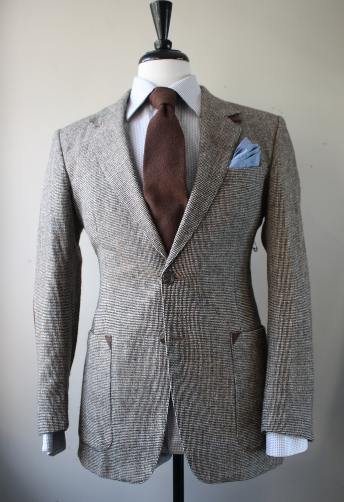Tweed Blazer with Brown Elbow Patches Mr. Goodwill