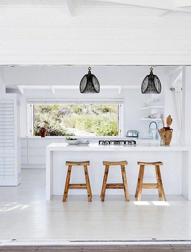 indoor outdoor beach kitchen