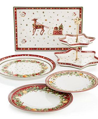 Villeroy u0026 Boch Winter Bakery Dinnerware Collection  sc 1 st  Pinterest : villeroy and boch christmas dinnerware - pezcame.com