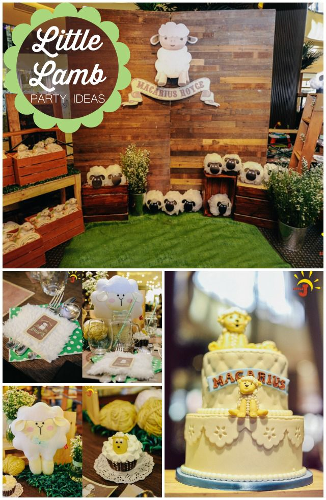 Macarius Royce's Little Lamb Themed Party - One Charming Day