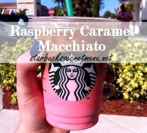 Starbucks Secret Menu: Raspberry Caramel Macchiato