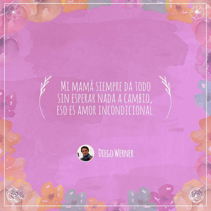 Frase número 83: Enviada por Diego ¡El amor por tu mamá merece ser compartido! #AmorInfinito #Love #Mom #Mamá #Amor