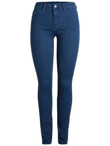 #PIECES #Damen #Jeans #Jeggings #blau Fünf Taschen - Schlanke Passform Regular medium waist Knopf- und Reißverschluss Dehnbarer Stoff Das Model ist 179 cm groß und trägt Größe S