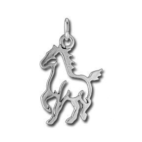 Sterling Silver Walking Horse Silhouette Charm