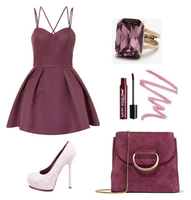 """purpel girl"" by meysiskatikha on Polyvore featuring Chi Chi, Yves Saint Laurent, Little Liffner, Ann Taylor, Charlotte Russe and Christian Dior"