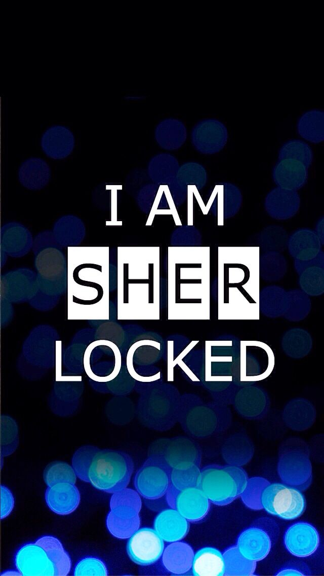 Sherlock iphone wallpaper! For the average fangirl