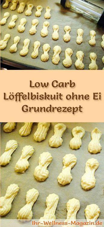 Grundrezept für Low Carb Löffelbiskuit ohne Ei - ein einfaches Rezept für vegane kalorienreduzierte, kohlenhydratarme Löffelbiskuits ohne Zusatz von Zucker ...