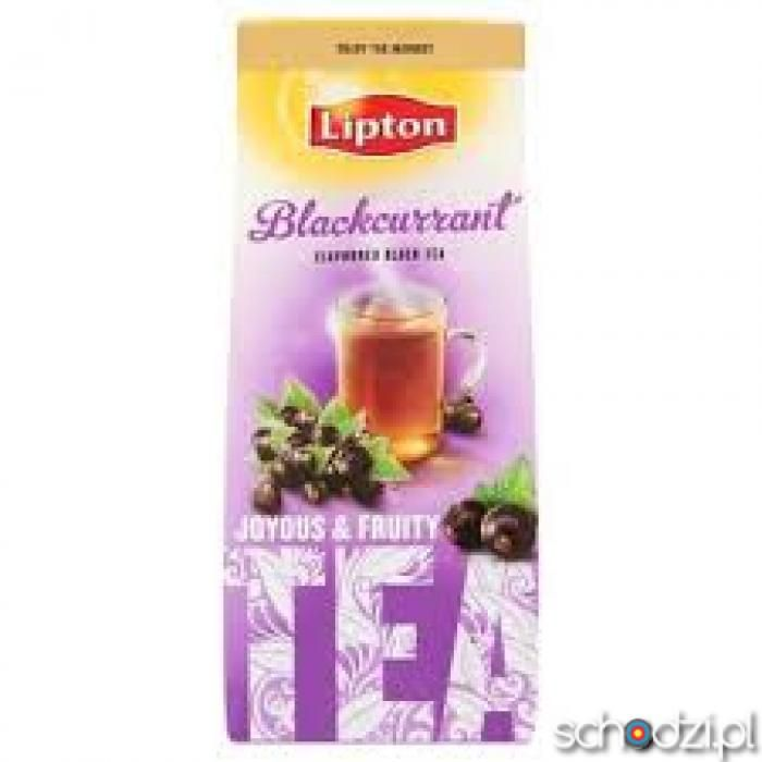 Lipton Blackcurrant Herbata czarna 150 g - Schodzi.pl