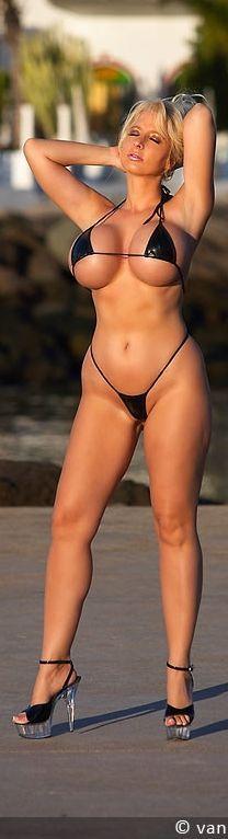Schwarzer rosa Stern Bikini
