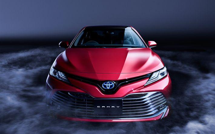 Download imagens Toyota Camry, 2018, Híbrido, Vista frontal, limousine, Carros japoneses, Toyota