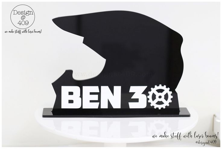 Black Acrylic Helmet On Stand Ben 30 Personalised:Customised : Design @ 409