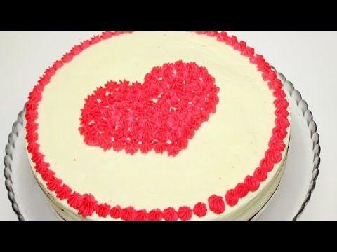 Торт ко дню Святого Валентина со сливочно-сырным кремом. - YouTube